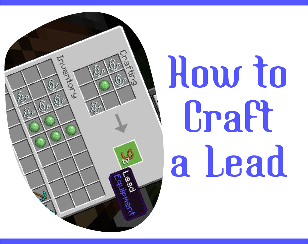 How To Make A Lead In Minecraft Pe