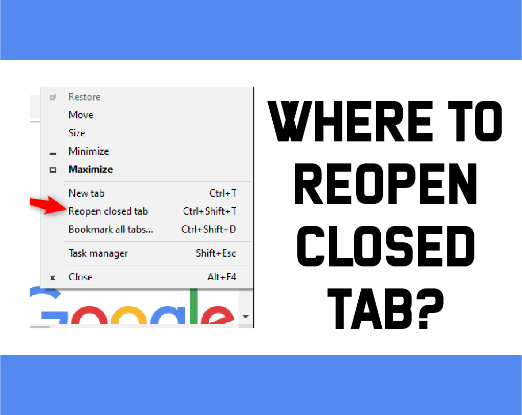How To Reopen Closed Tab