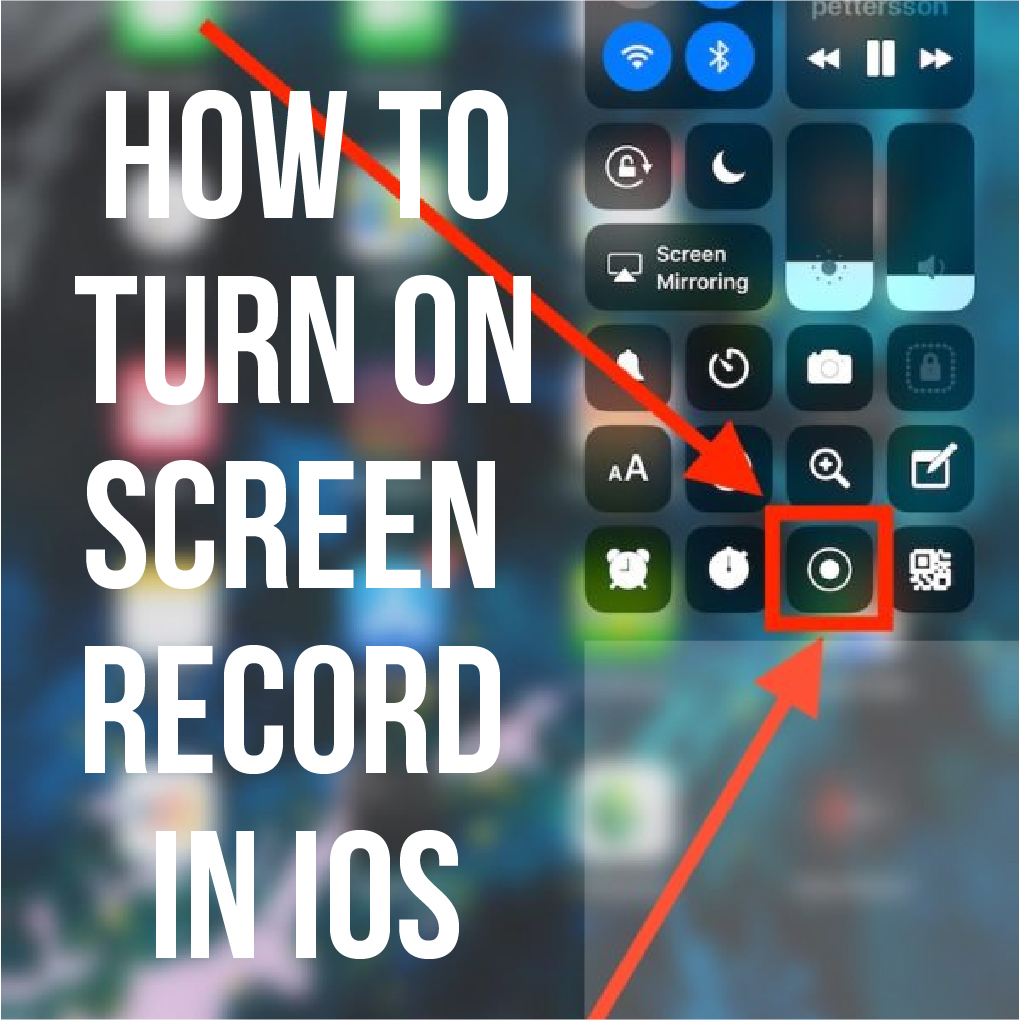 How To Turn On Screen Record On Iphone