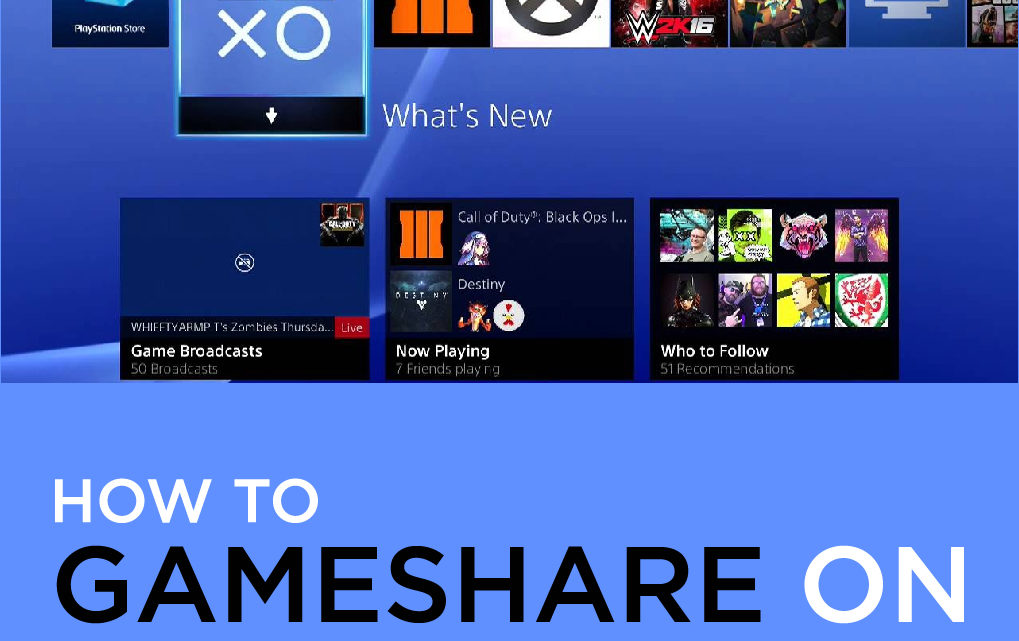 How to Gameshare on PS4 with Friends?