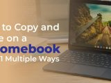 how to copy and paste a picture on chromebook